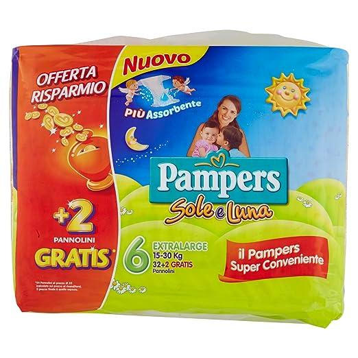 Pampers - Sole e Luna - Pañales - Talla 2 (3-6 kg) - 21 pañales: Amazon.es: Salud y cuidado personal