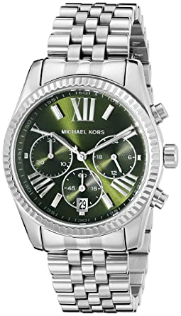 3121c20ed542 Amazon.com  Michael Kors Women s Lexington Silver-Tone Watch MK6222 ...