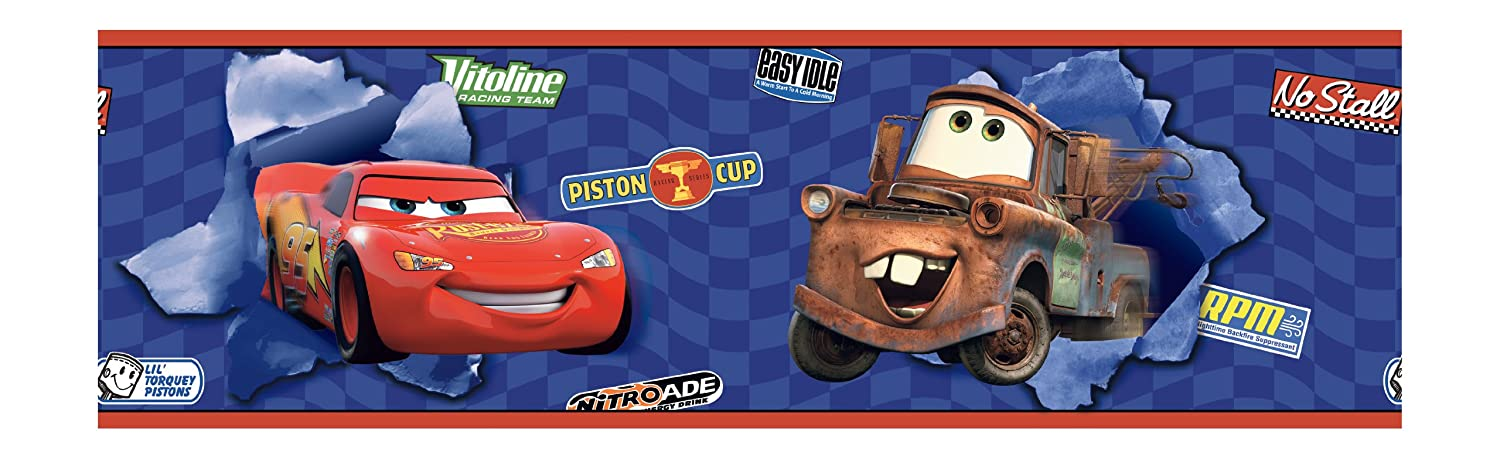 Exceptional York Wallcoverings Disney Kids DK6116BD Cars Lightning McQueen U0026 Mater  Border, Blue   Wallpaper Borders   Amazon.com