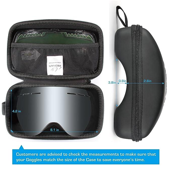 Amazon.com: PROHAPI Snow Goggles Case, Semi Hard EVA Ski ...
