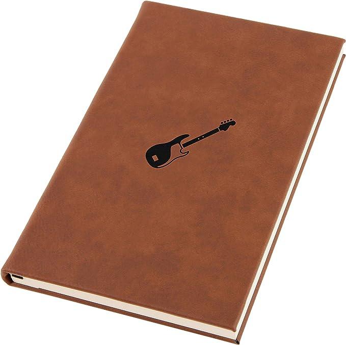 Bass Guitarra Grabada A5 Diario de Cuero Cuaderno Diario Personal ...
