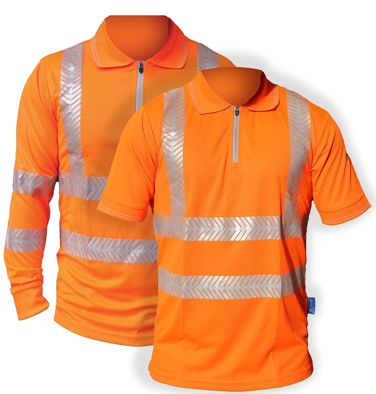 The British Safetywear Co Polo Activewear Hi-Vis con Cuello con ...