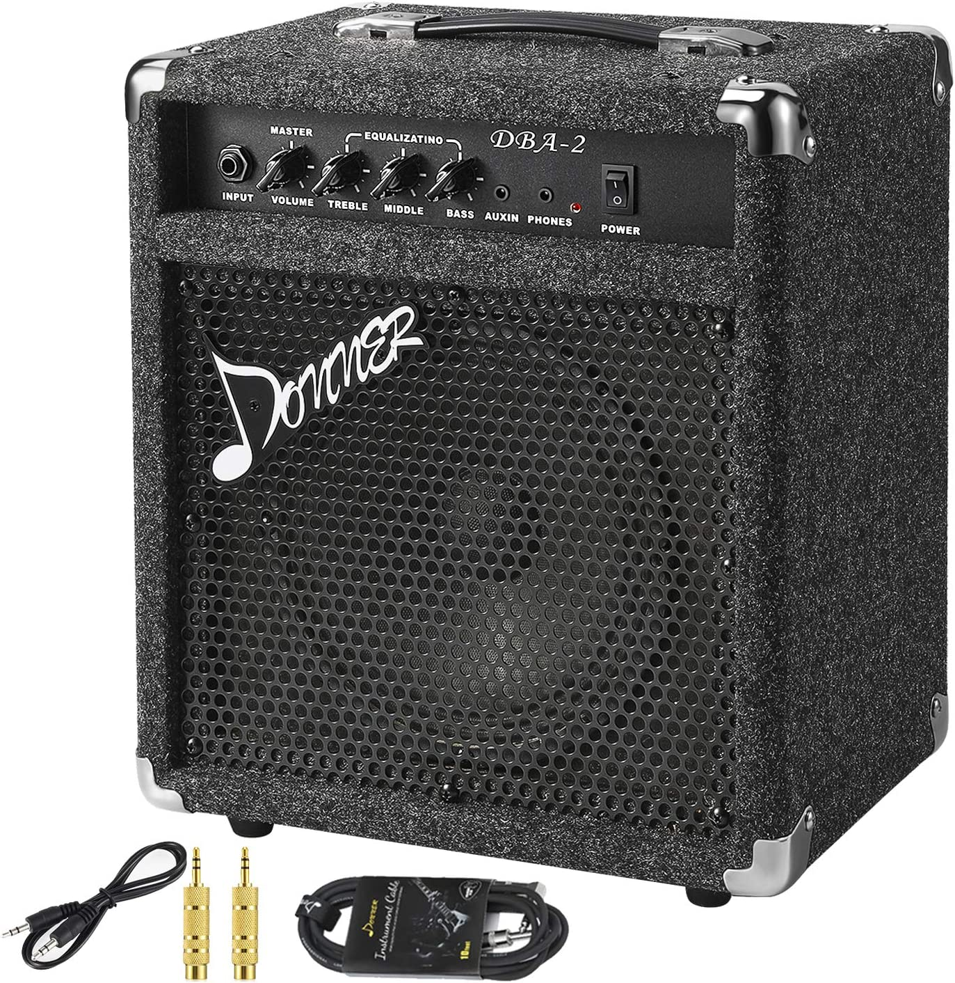New Donner 25W  Bass Combo AMP with Cable