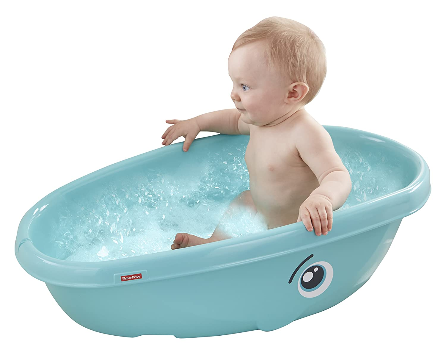 whale baby tub bathtub sit up fisher price small infant seat padded back new ebay. Black Bedroom Furniture Sets. Home Design Ideas