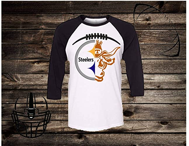 6dc25bafbd4 Amazon.com: Handmade NFL Football Shirt/College Football Shirt/Pittsburgh  Steelers/Texas Longhorns/Will Personalized with any college or NFL Team:  Handmade