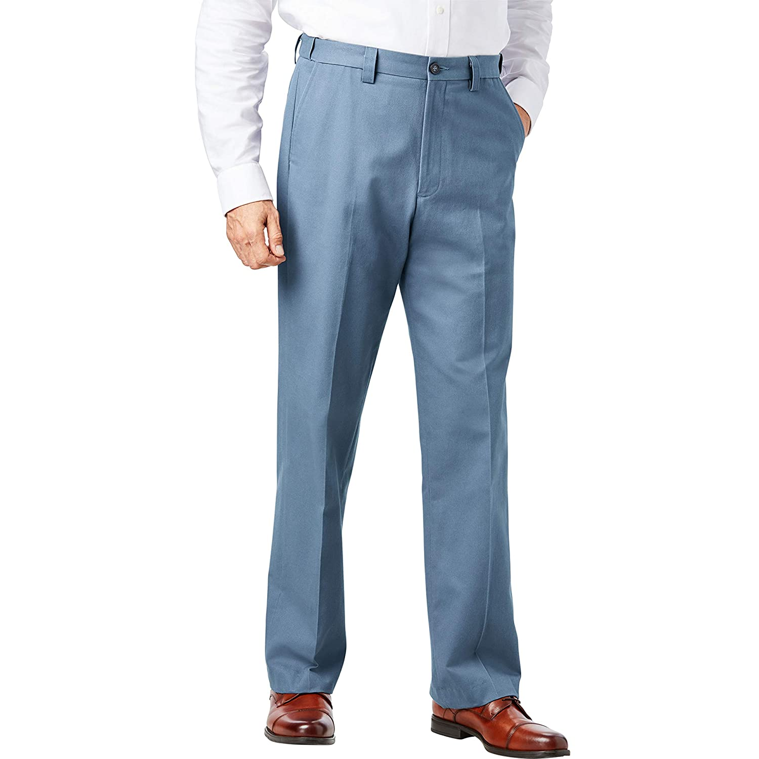 KingSize Mens Big /& Tall Relaxed Fit Wrinkle-Free Expandable Waist Plain Front Pants