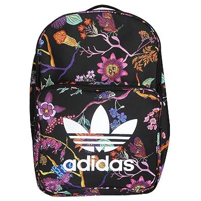 a5911f15b56d Amazon   (アディダス) オリジナルス adidas originals リュック バックパック 花柄 CLASSIC BACKPACK  (マルチ(ブラック))   adidas(アディダス)   レディース