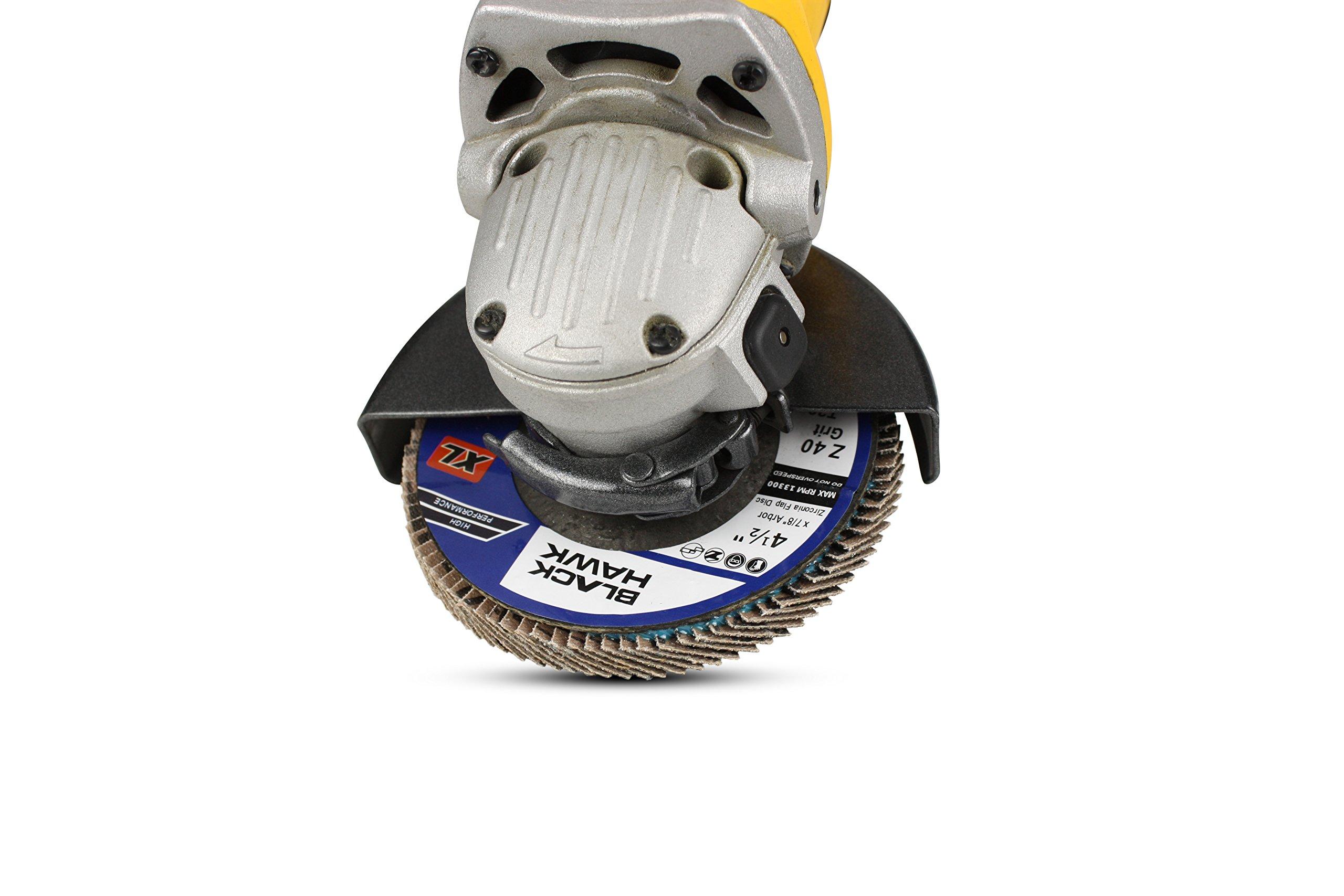 10 Pack - 4.5'' x 7/8'' XL High Density Zirconia Flap Discs Jumbo Grinding Wheels Type 29 (36 Grit)…