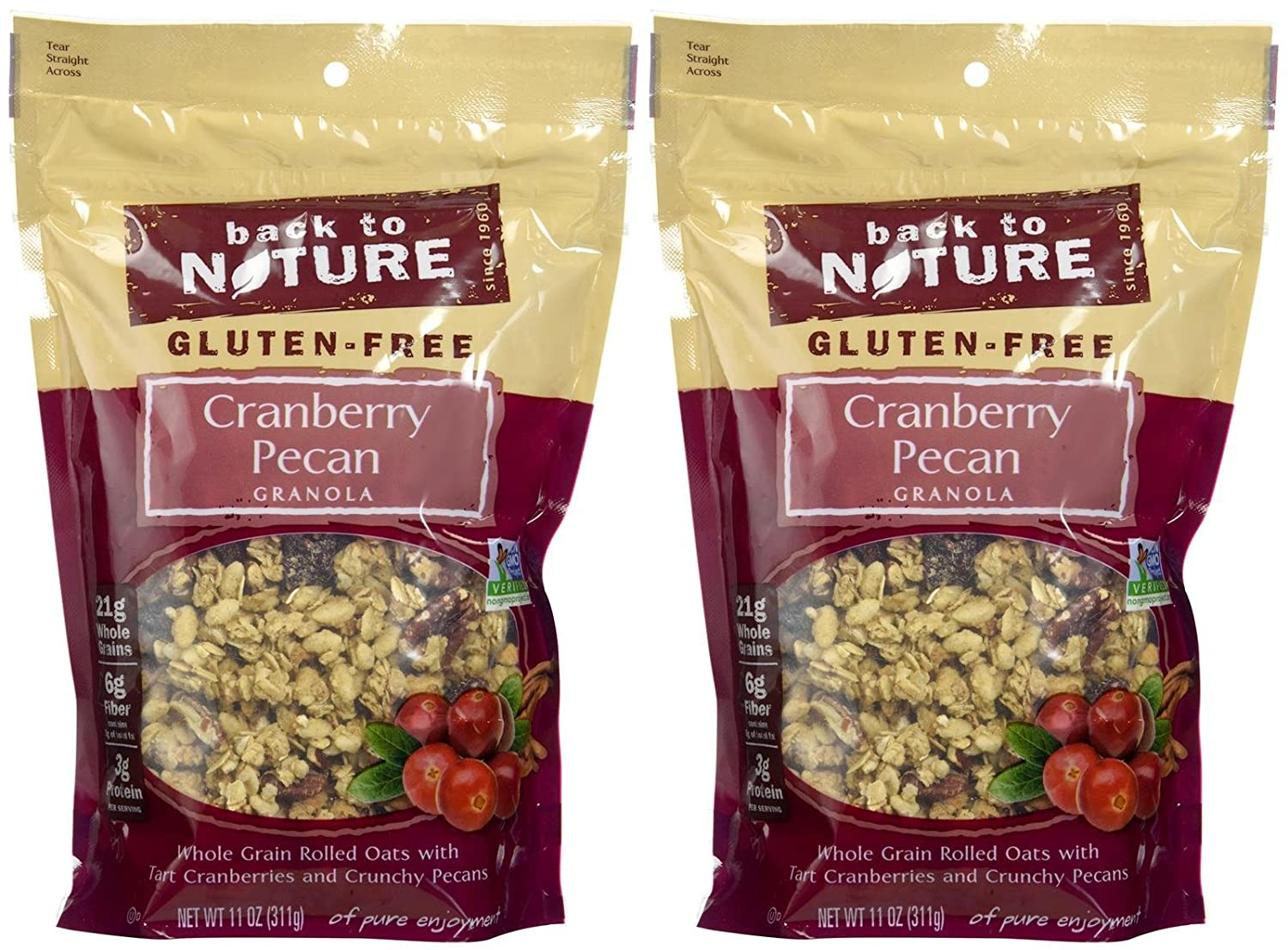 Back to Nature Granola - Cranberry Pecan - 11 oz - 2 pk