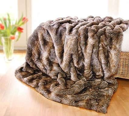 Muy grande de la manta de pelo, piel sintética manta, colcha, colcha,