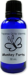 product image for Candlecopia Monkey Farts Concentrated Premium Fragrance Oil, Cobalt blue glass bottle, Euro style dropper cap