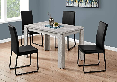 Monarch Specialties 32 X 48 GREY RECLAIMED WOOD-LOOK Dining Table