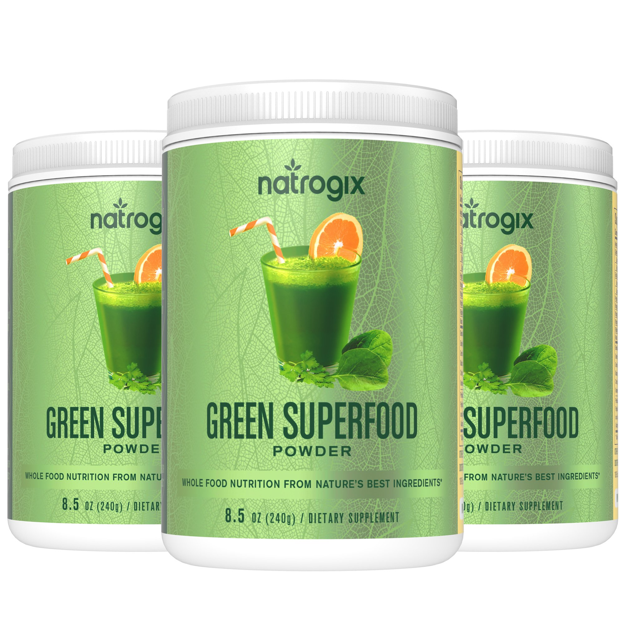 Wheat Grass Green Superfood with Fruits & Vegetables - Whole Vegan Food Nutrition, Riches in Vitamins, Minerals and Antioxidants, Organic & Gluten Free Plant-Based Protein, Made in USA (25.5 Oz).