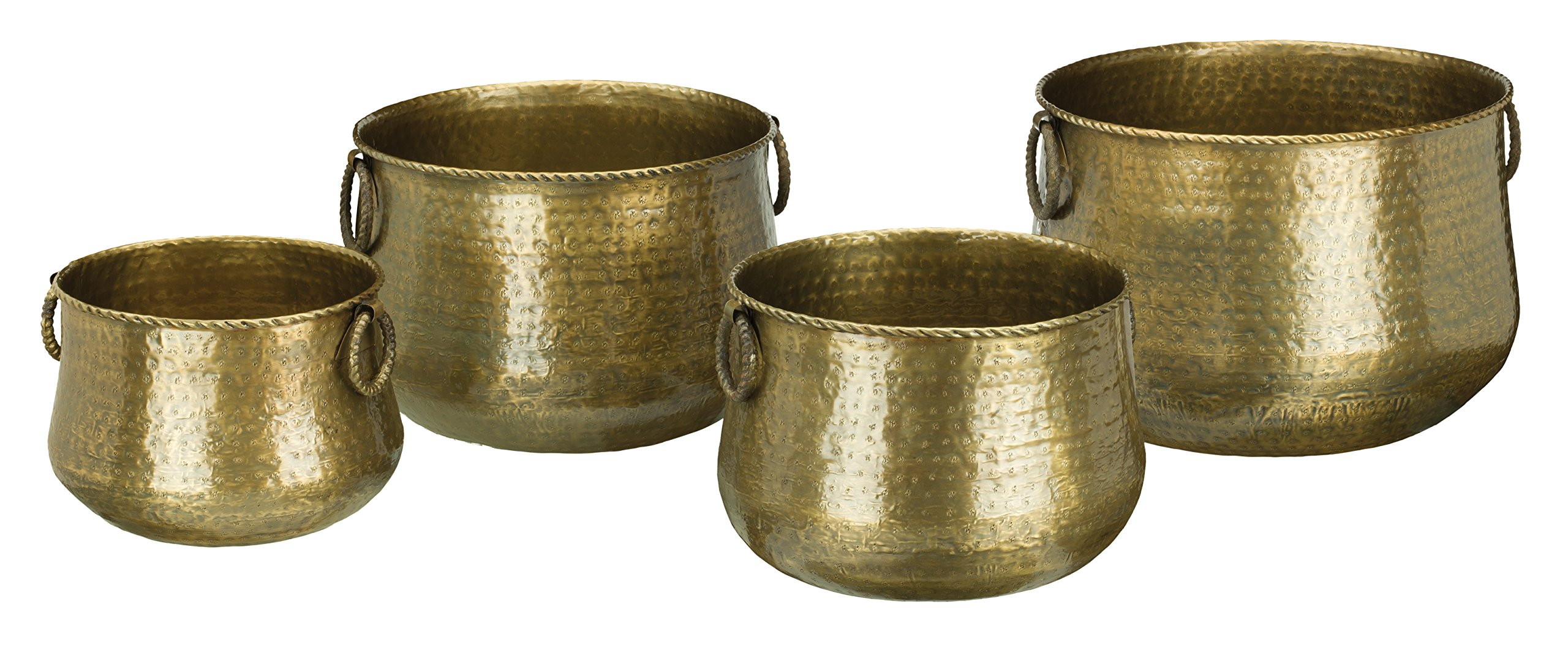 Regal Art & Gift Planter (Set of 4), Hammered Brass by Regal Art & Gift