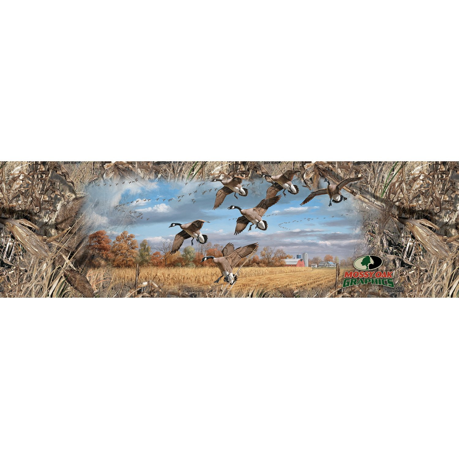 Mossy Oak Graphics 11012-DB-WX Duck Blind 66 x 29 X-Large Window Graphic with Canada Geese for SUV//Van