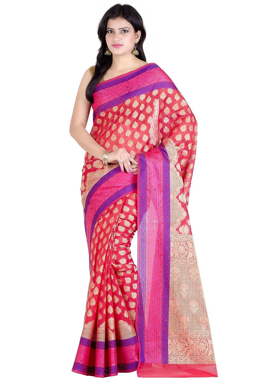 514093cb52997 The saree features the Cutwork Brocade handloom weaving technique