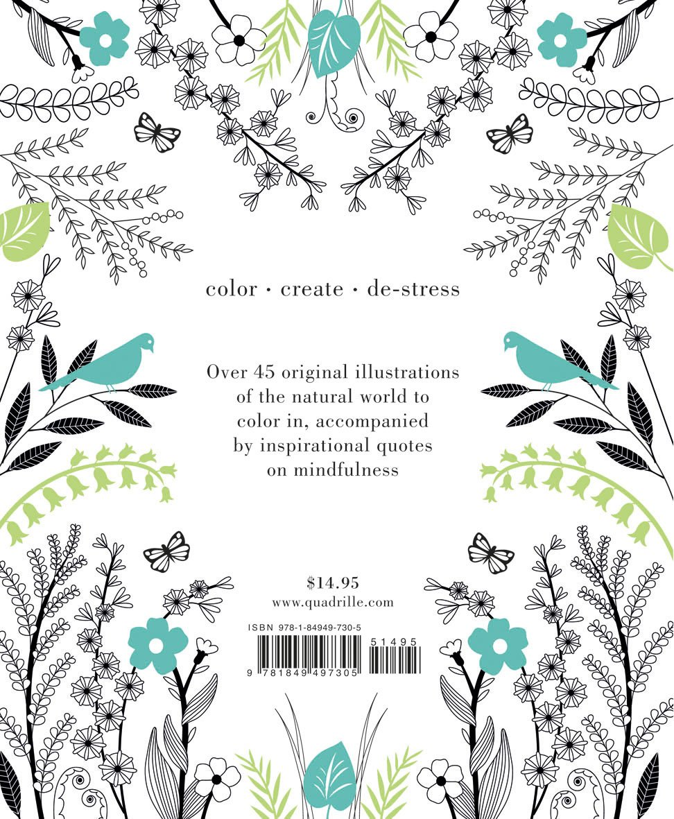 Coloring books to destress - The Coloring Book Of Mindfulness 50 Quotes And Designs To Help You Focus Slow Down De Stress Quadrille Publishing Holly Macdonald 9781849497305