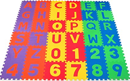 Amazon Com Non Toxic 36 Piece Abc Foam Mat Alphabet Number