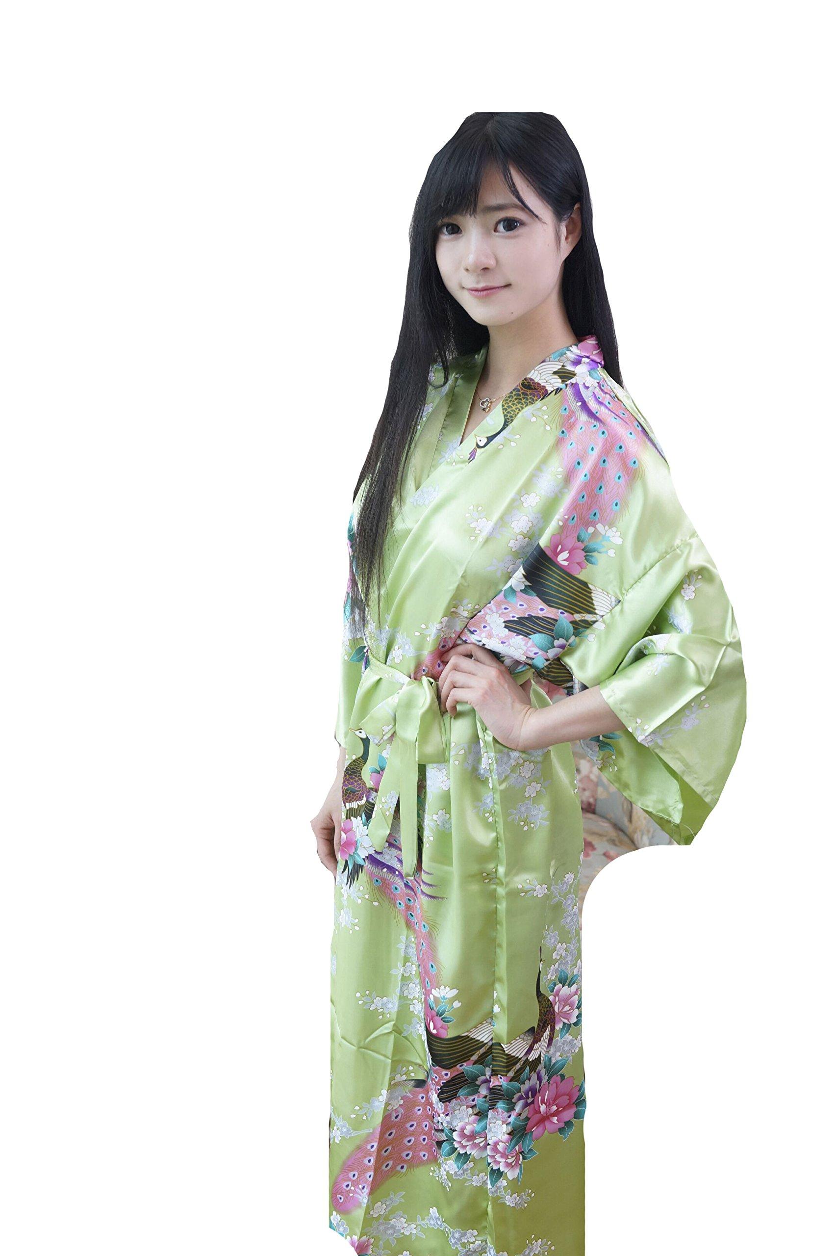 DaHeng Women Floral Satin Robe Bridal Dressing Gown Wedding Bride ...