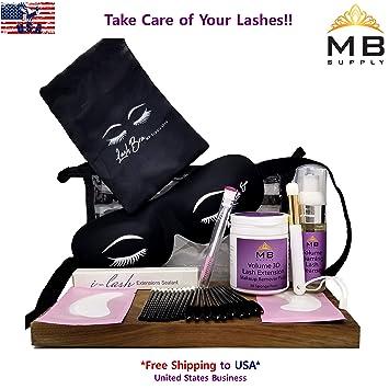 c56ae4b66f8 Amazon.com : Aftercare Kit For Eyelash Extension 3D Volume Lash+Free  Protective Lash Bra USA : Beauty
