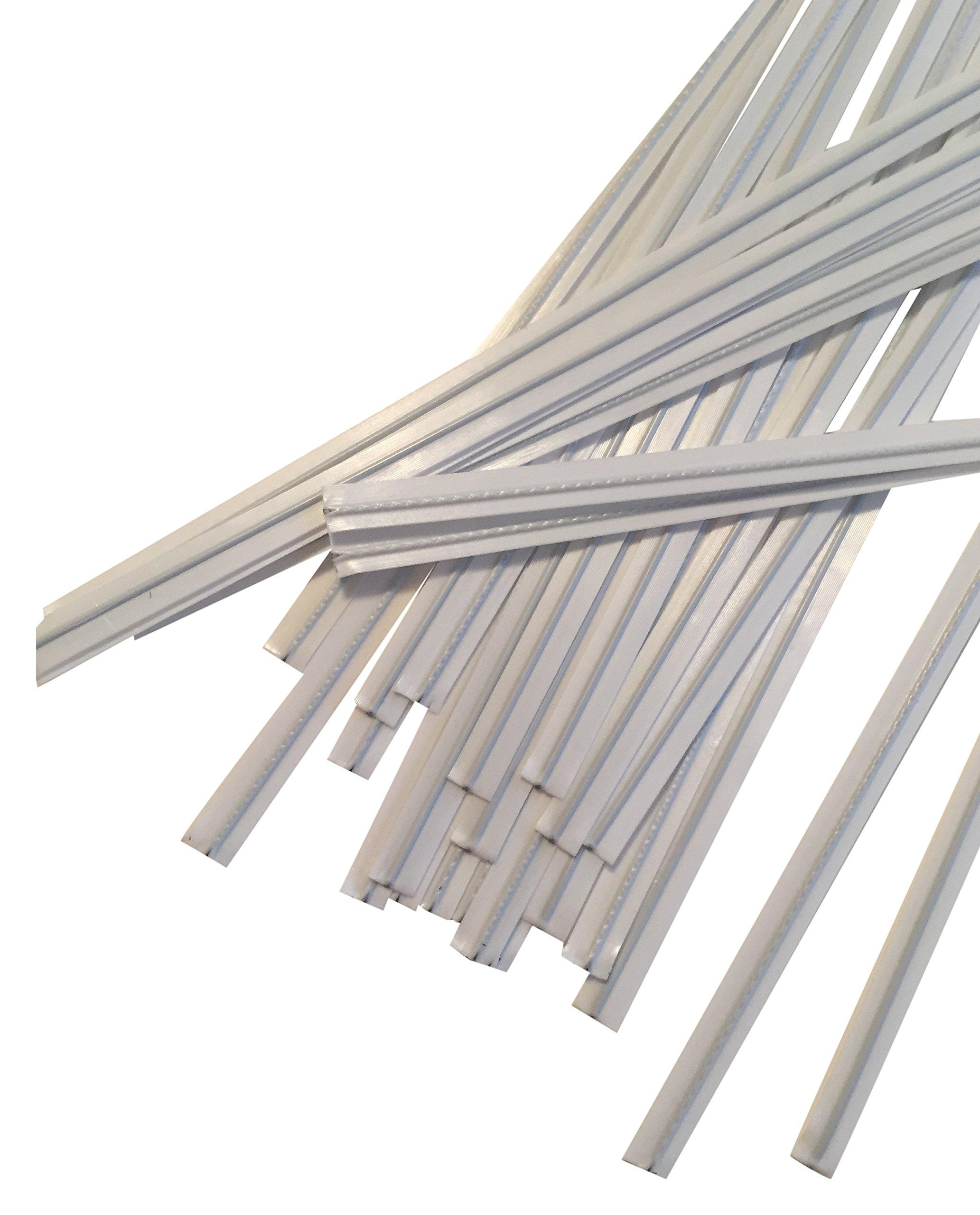 Duco Plastic Twist Ties Plastics and Supply, White, 4'' L x 5/32'' W, 2000 Piece