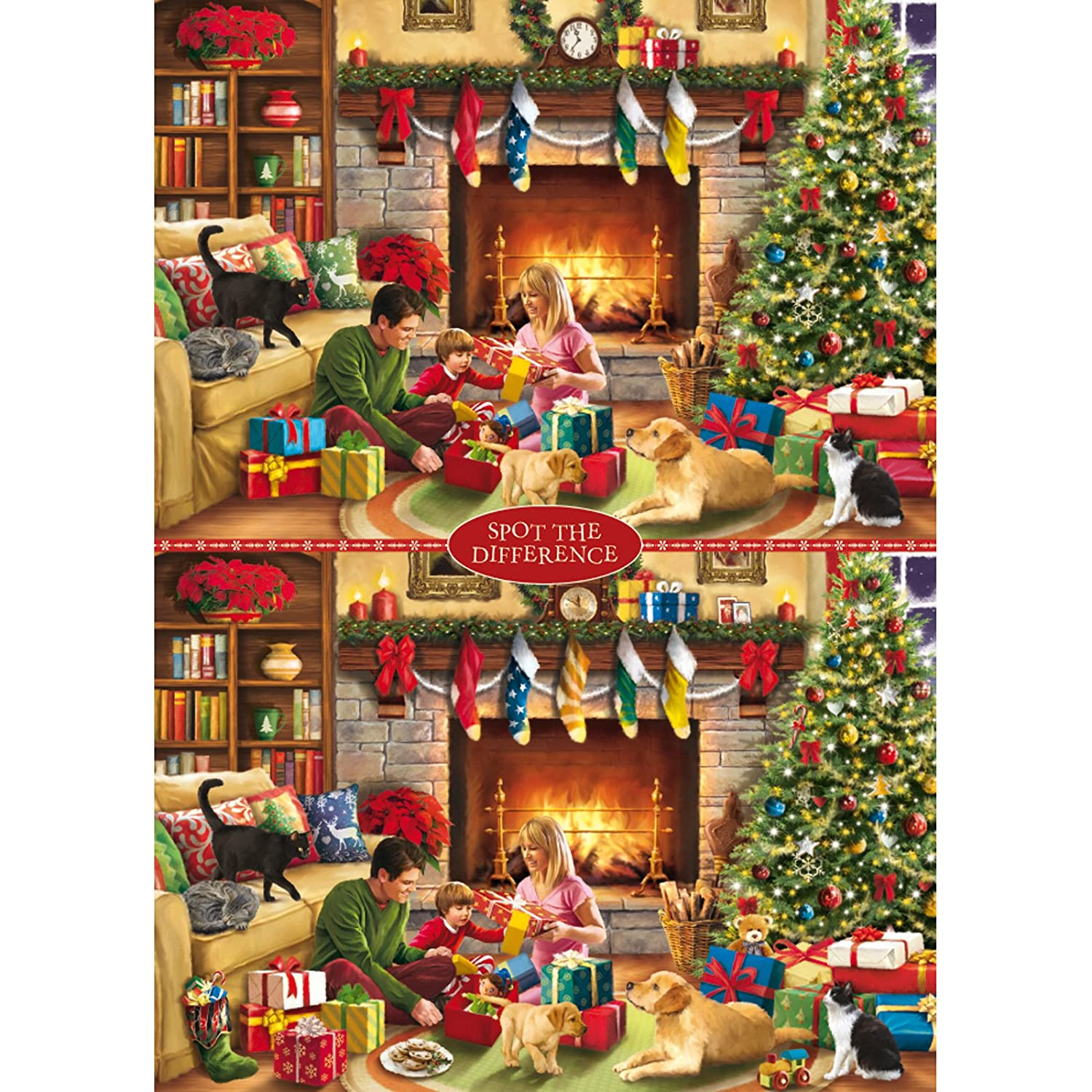 Otter House Christmas Spot the Difference No 1 1000 Piece Jigsaw