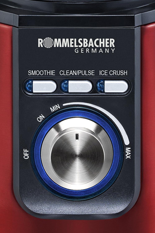 Rommelsbacher MX 1205//R Standmixer Metallic-Rot Mixer MX1205//R Ice Crush
