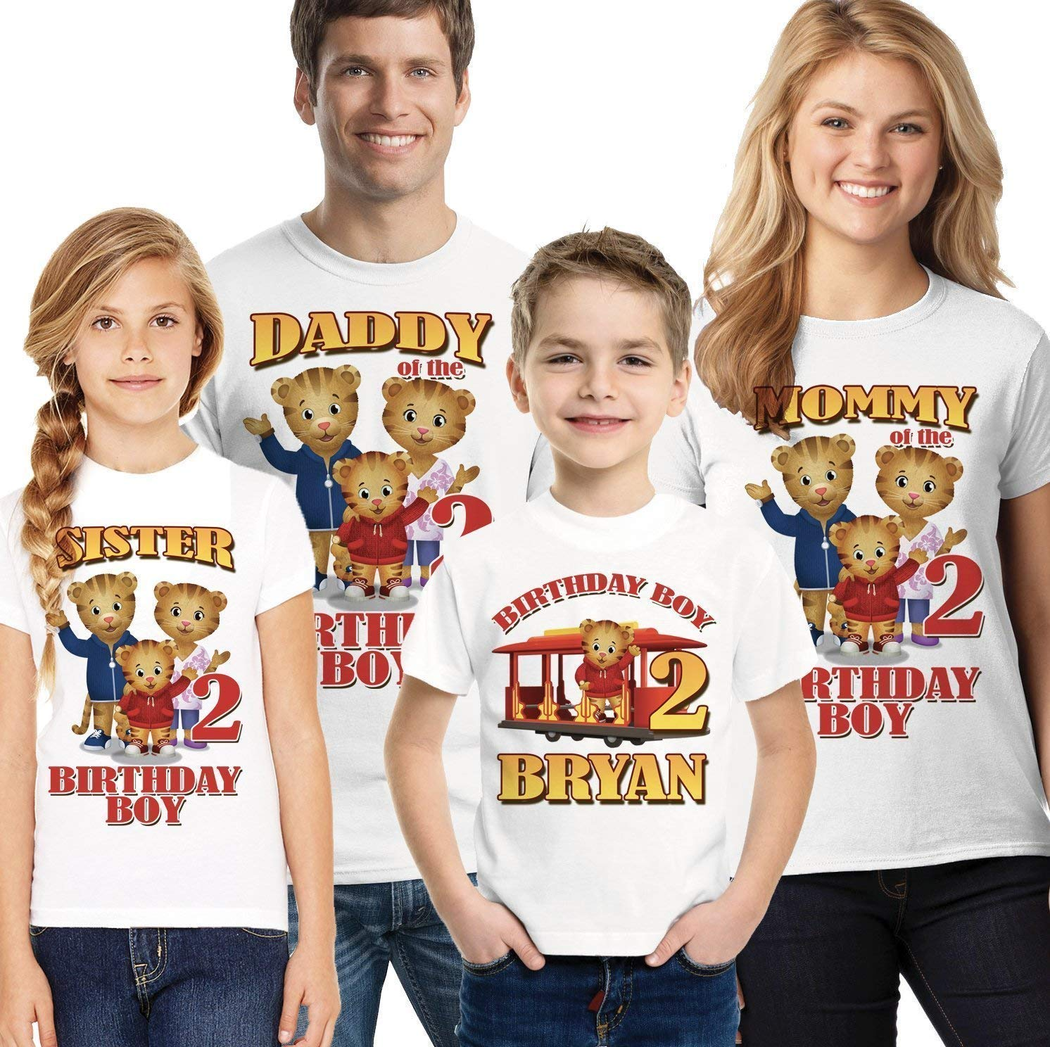 Amazon Daniel Tiger Birthday Shirt The Shirts Boy Personalized Handmade