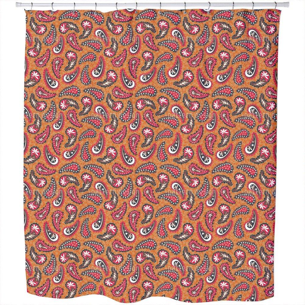 Uneekee Classy Paisley Design Shower Curtain: Large Waterproof Luxurious Bathroom Design Woven Fabric