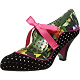 Poetic Licence Women's Schools Out Black Floral Mid Heel Shoe Boot