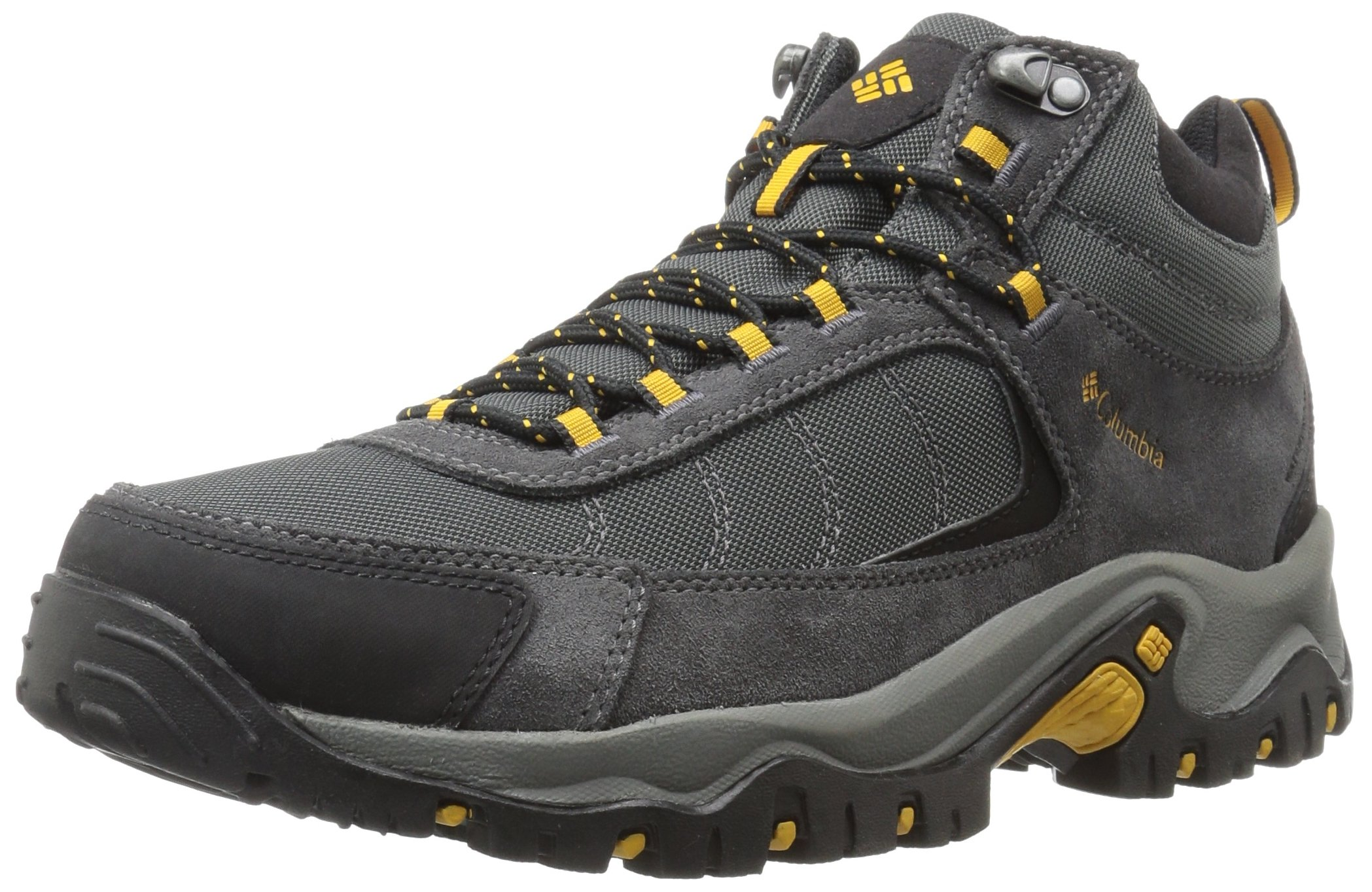 Columbia Men's GRANITE RIDGE MID WATERPROOF Hiking Shoe, Dark Grey, Golden Yellow, 9.5 D US by Columbia