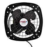 "Speed Waves High Speed 6"" 4 Blade Exhaust Fan (Black)"