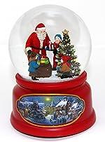 The San Francisco Music Box Company Santa w/Kids Snow Globe