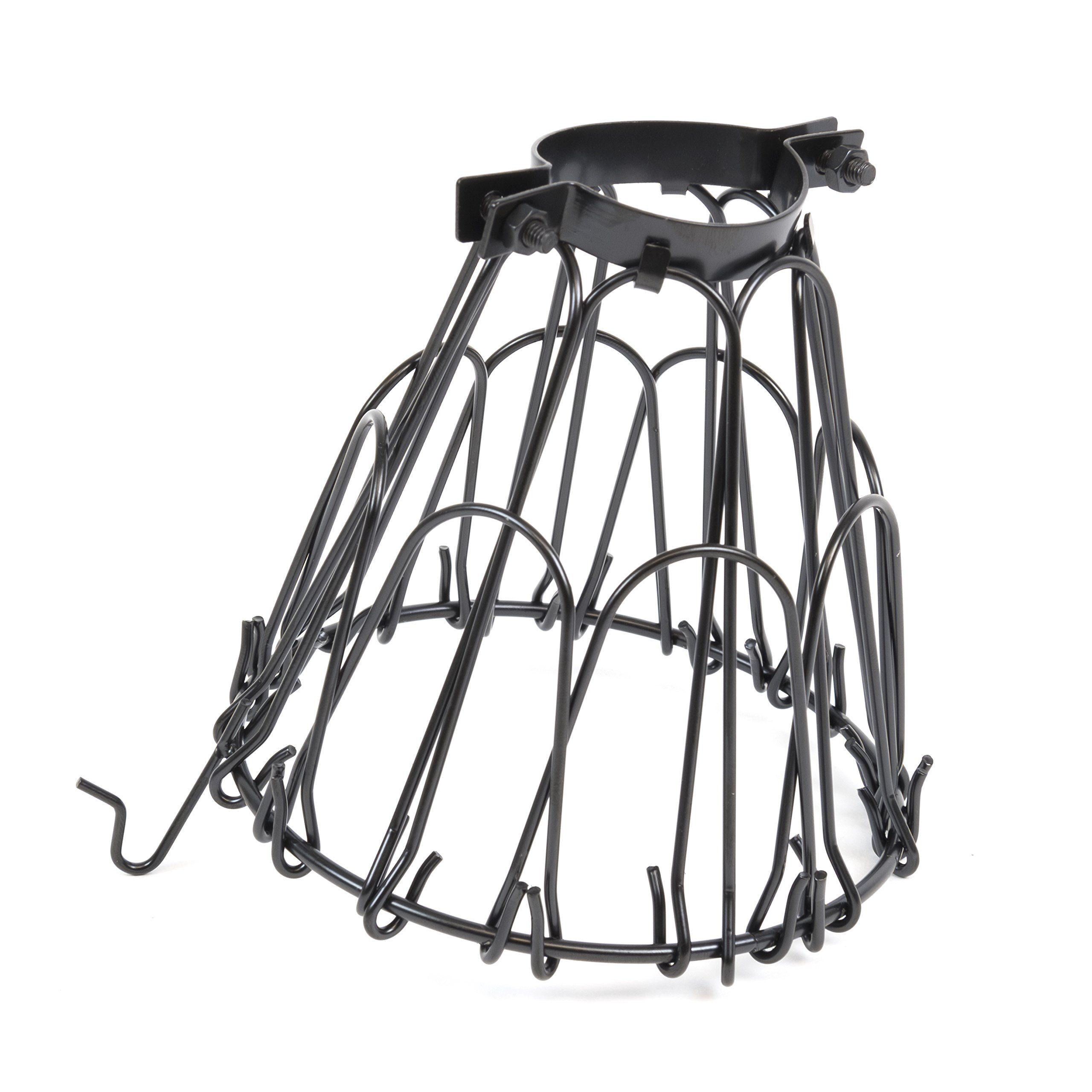 Set of 2 Industrial Vintage Style Black Hanging Pendant Light ...