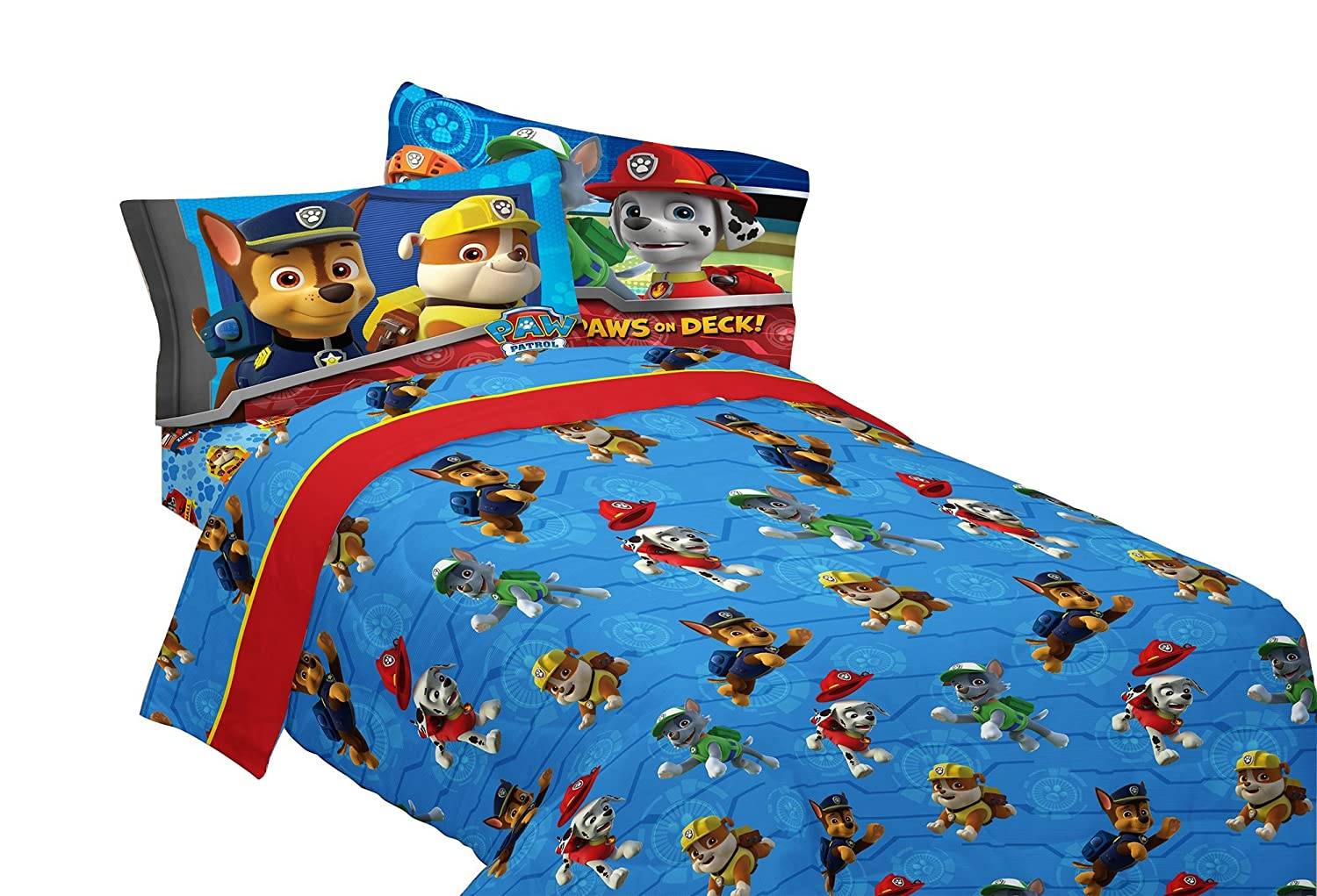 PAW Patrol Ruff Ruff Rescue Sheet Set, Full Franco Manufacturing MB656C