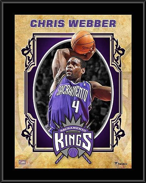 9fadc634a Chris Webber Sacramento Kings 10.5 quot  x 13 quot  Sublimated Hardwood  Classics Player Plaque - NBA