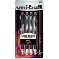 4-Pack uni-ball 207 Retractable Gel Pens, Medium Point (Assorted Colors)