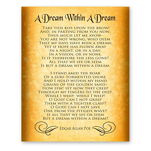 Amazoncom A Dream Within A Dream Poem By Edgar Allan Poe Home