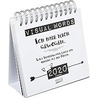 Visual Words 2020: Aufstellbarer Typo-Art Postkartenkalender. Jede Woche ein neuer Spruch. Hochwertiger Wochenkalender für den Schreibtisch