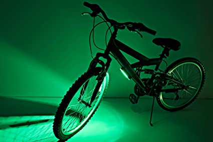 CosmicBrightz Bicycle Frame Light LED Bicycle Light Kit Green
