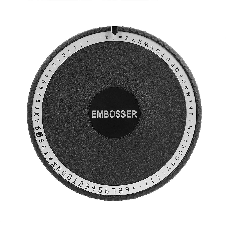 Happybuy Embossing Machine 72 Character Card Embosser for PVC Card Credit ID VIP Manual Embosser Machine Credit Card by Happybuy (Image #5)