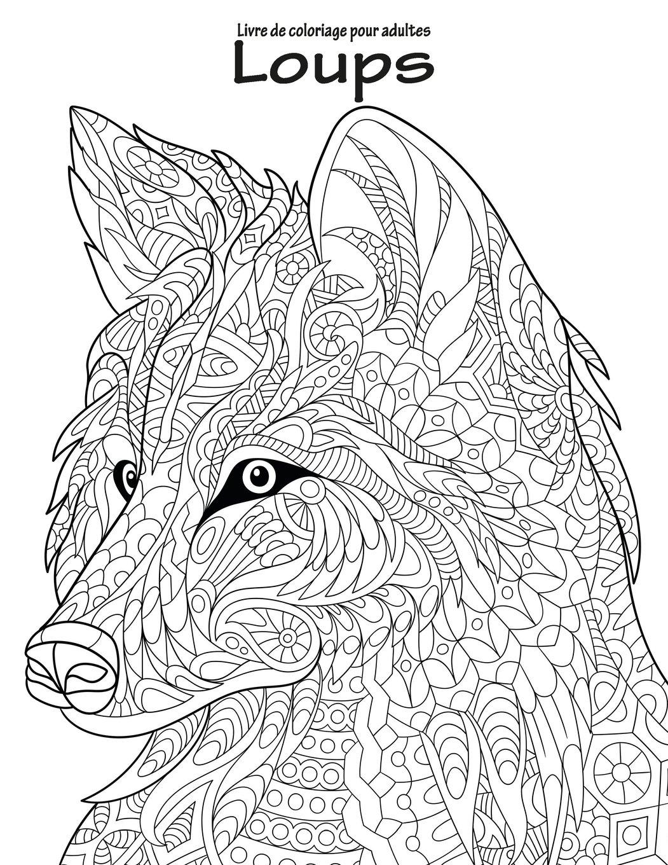 Amazon Livre de coloriage pour adultes Loups 1 Nick Snels Livres