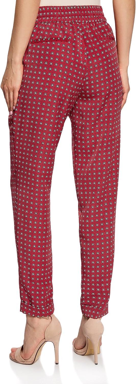 oodji Collection Mujer Pantalones Ligeros de Tejido Fluido