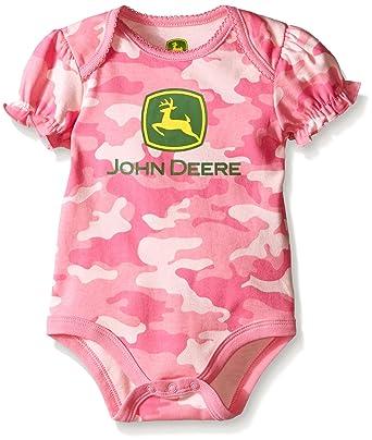 Baby Girl Camo Clothes Magnificent Amazon John Deere Baby Girls' Trademark Bodyshirt Camo Clothing