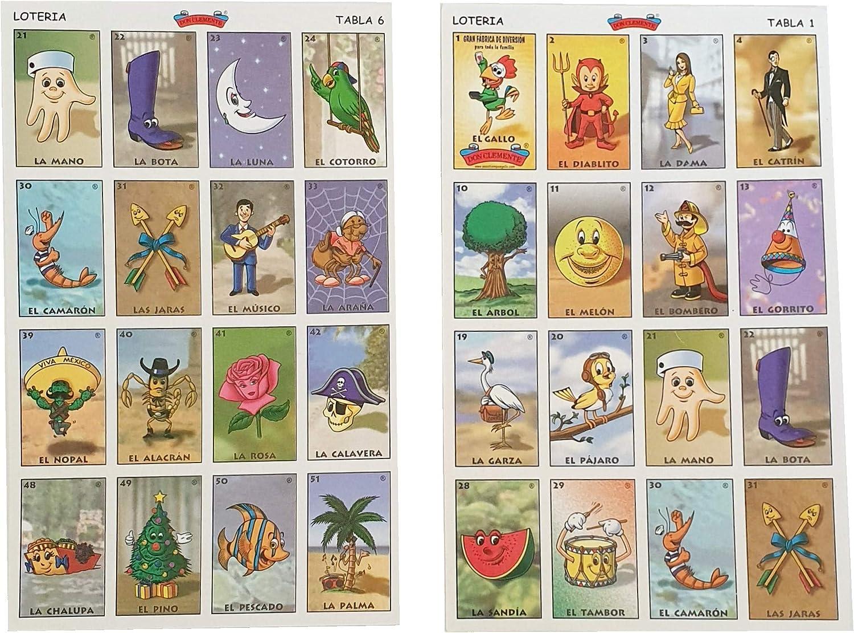 Amazon Com Mexican Bingo For Kids Loteria Mexicana Para Ninos Loteria Infantil Spanish Edition Toys Games