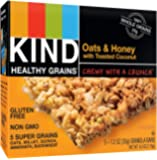 KIND Healthy Grains tCwBFo Granola Bars, Gluten Free, 1.2oz Bars, Oats and Honey with Toasted Coconut, 15 Count (Pack of 2)