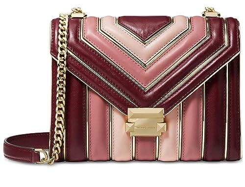 dd5e12c23cd2d MICHAEL Michael Kors Whitney Large Quilted Tri-Color Polished Leather  Shoulder Bag
