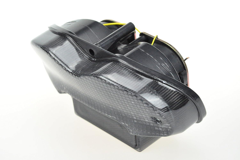 2001-2005 Bandit 1200 Topzone Moto Feu arri/ère fum/é clignotant int/égr/é tail light pour Suzuki 2000-2005 Bandit 600