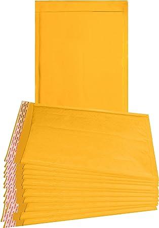 Amazon.com: Paquete de 25 sobres acolchados Kraft 10,5 x 15 ...