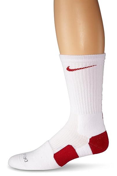 Nike Elite Basketball Crew Socks Small (Shoe Size 4-6) White, Red